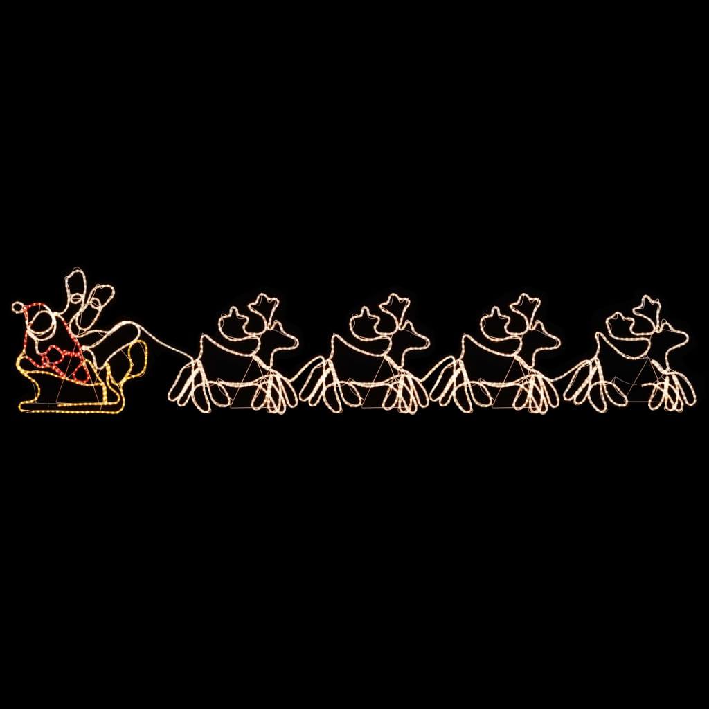 Božićna rasvjeta s 4 XXL soba i sanjkama 1548 LED 500 x 80 cm