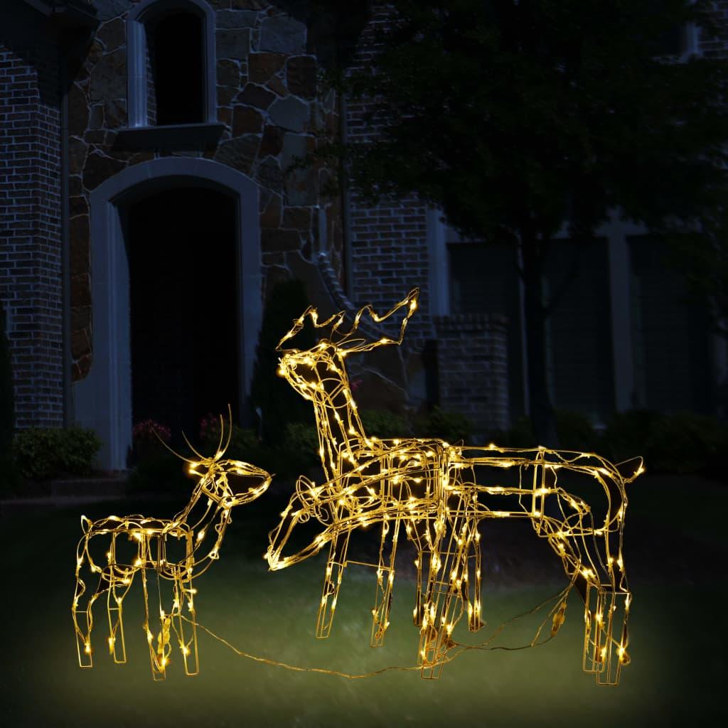 vidaXL Instalație de lumini de Crăciun cu reni, 3 piese, 229 LED-uri poza 2021 vidaXL