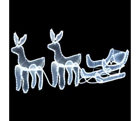 vidaXL Weihnachtsbeleuchtung 2 Rentiere und Schlitten Mesh 320 LEDs