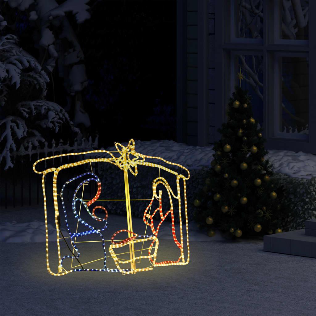vidaXL Decorațiune de Crăciun scena nașterii, 240 leduri, 116x41x87 cm imagine vidaxl.ro