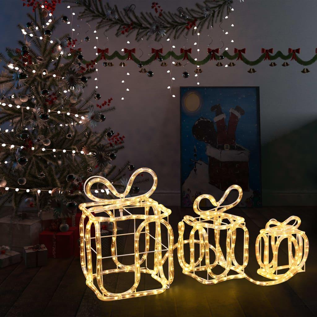 vidaXL Decorațiune Crăciun cutii de cadou 180 leduri interior/exterior imagine vidaxl.ro