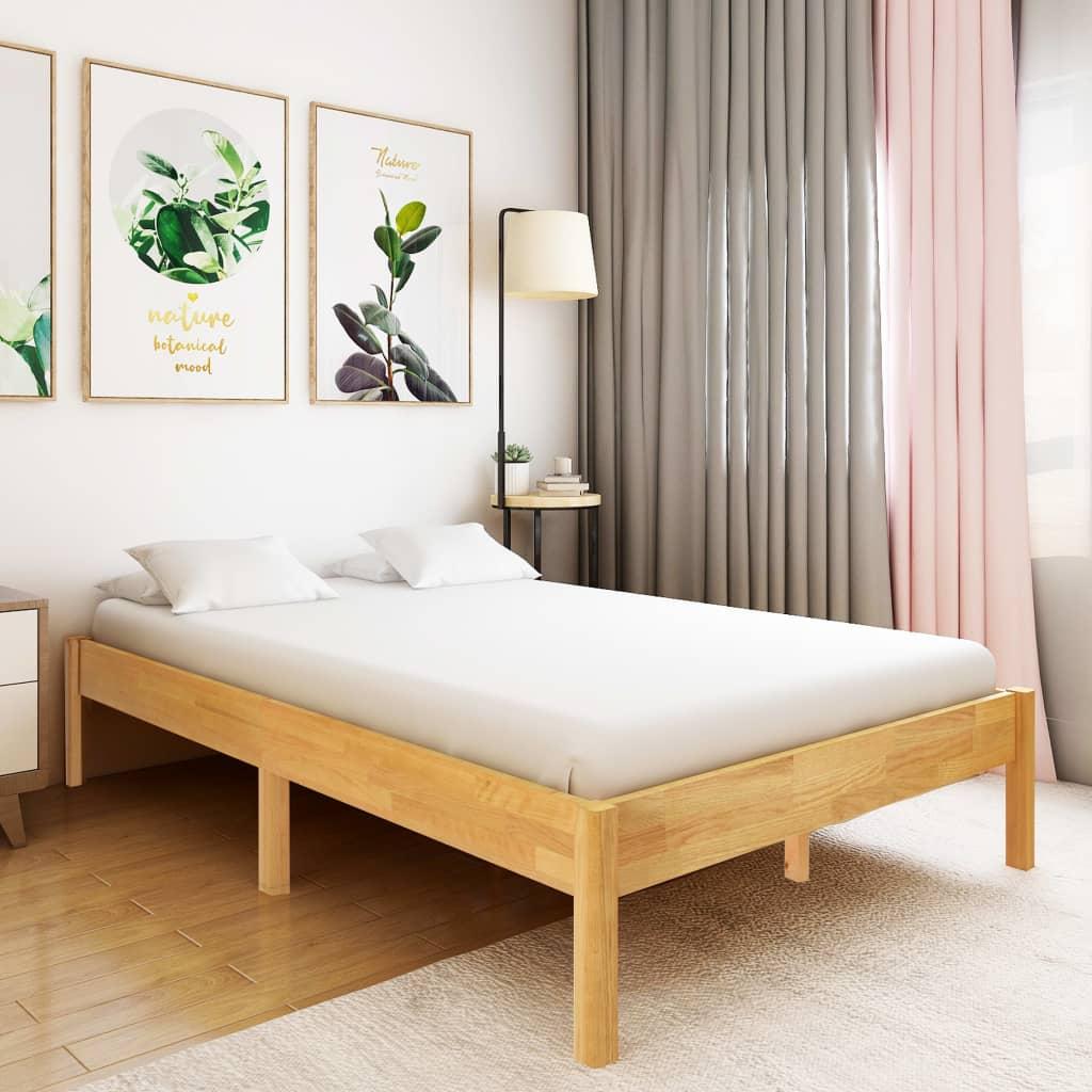 vidaXL Cadru de pat, 140 x 200 cm, lemn masiv de stejar vidaxl.ro