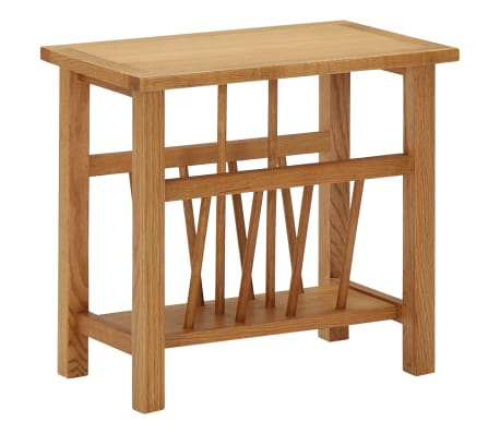 vidaXL Magazine Table 45x27x42 cm Solid Oak Wood