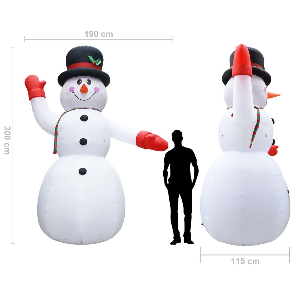 vidaXL Sneeuwpop opblaasbaar met LED's IP44 300 cm