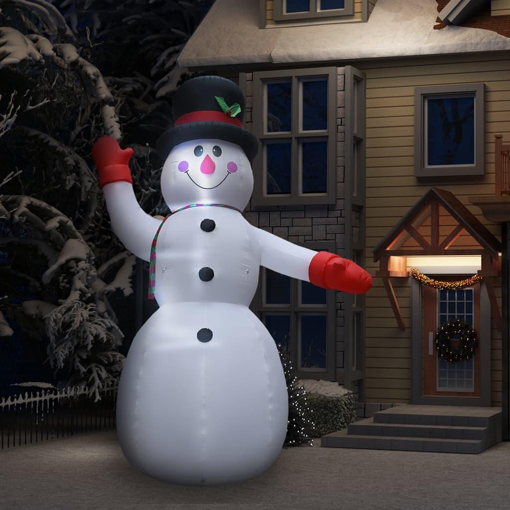 vidaXL Decorațiune Moș Crăciun gonflabil cu LED-uri IP44 300 cm poza 2021 vidaXL