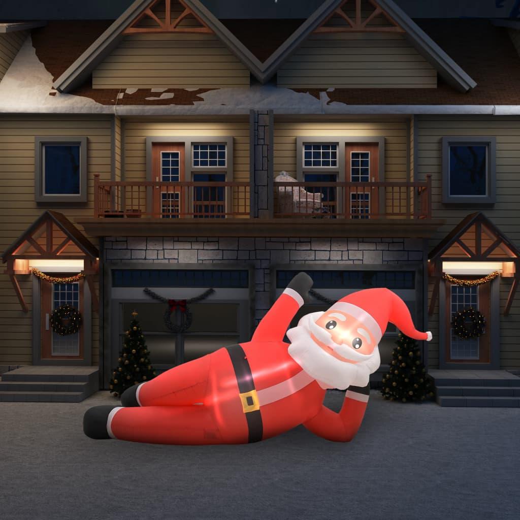 vidaXL Kerstman opblaasbaar LED XXL IP44 360 cm rood