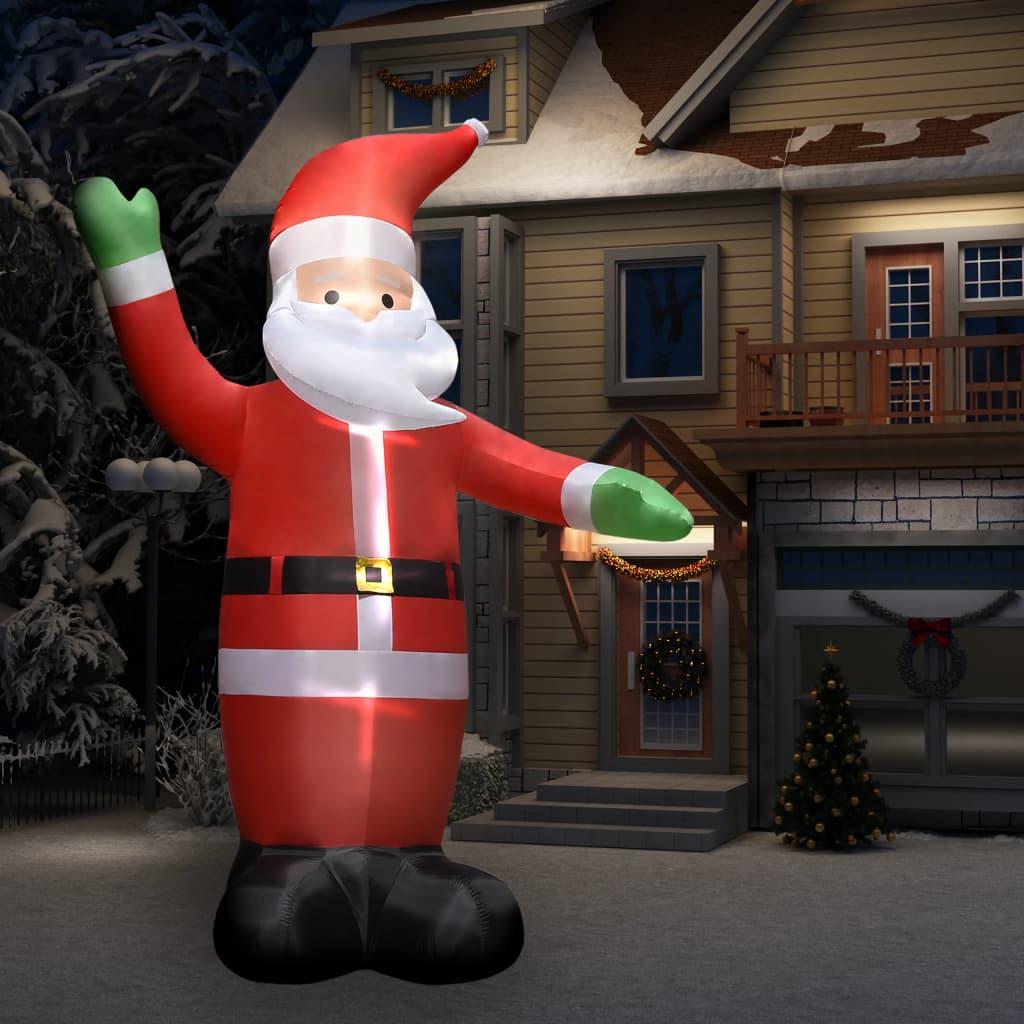 vidaXL Decorațiune Crăciun Moș Crăciun gonflabil cu LED-uri IP44 4,5 m imagine vidaxl.ro