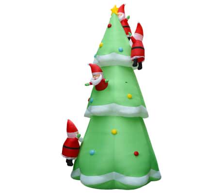 vidaXL Kerstboom opblaasbaar met kerstmannen LED XXL IP44 500 cm stof