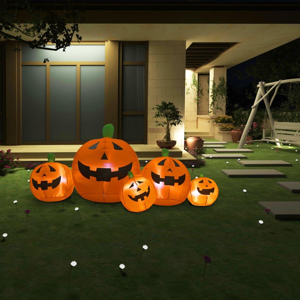 Nafukovací rodina dýní Halloween s LED 1,8 m