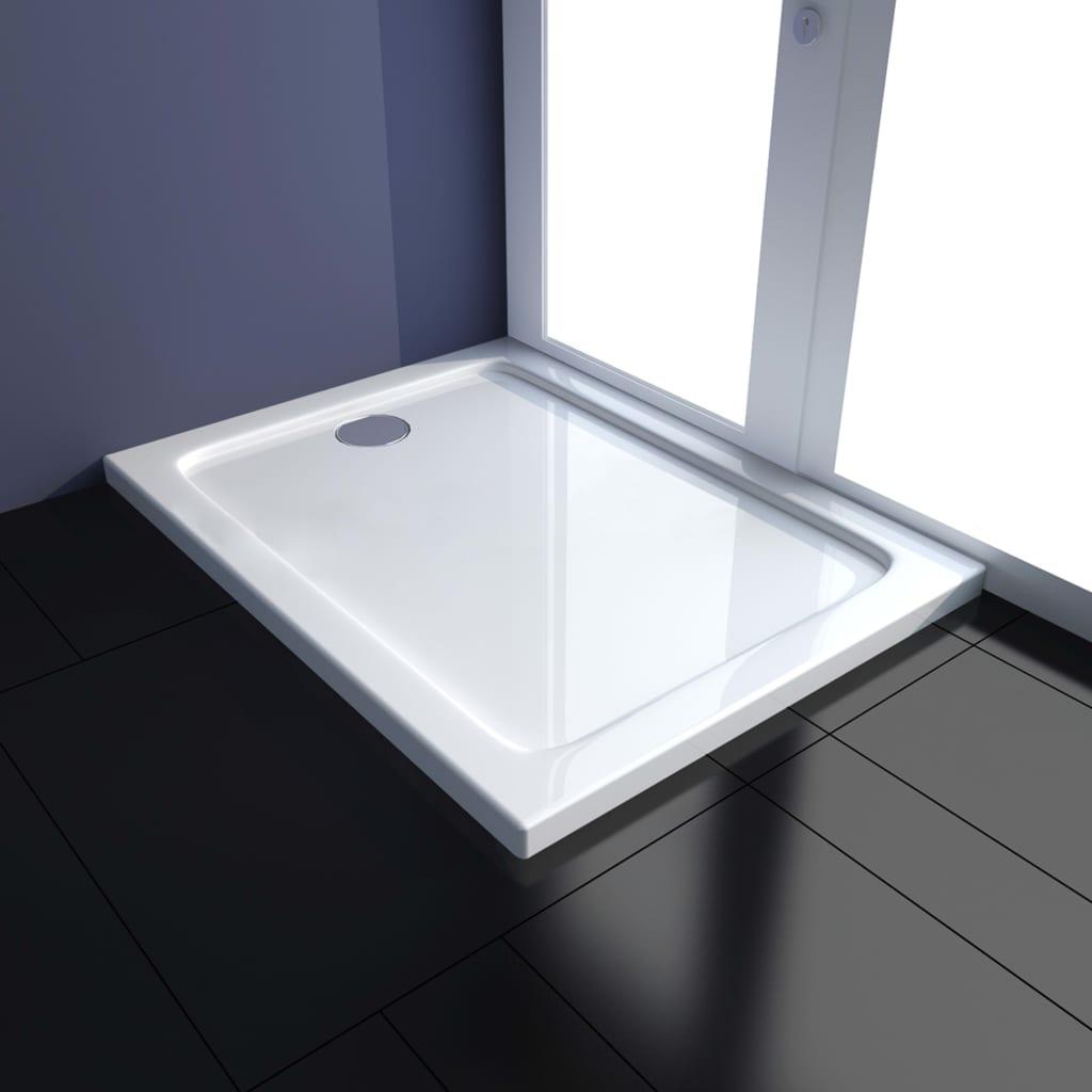 vidaXL Cădiță de duș, alb, 70 x 90 cm, ABS poza 2021 vidaXL