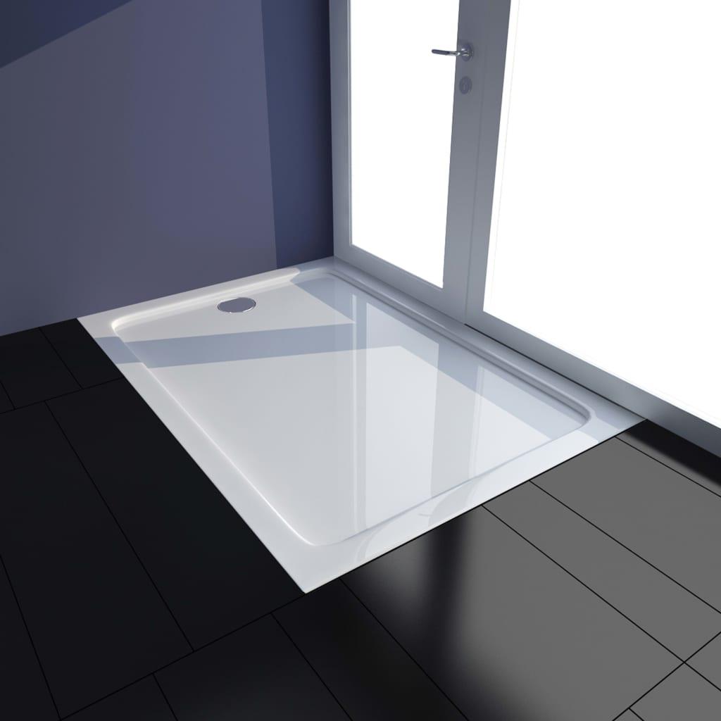 vidaXL Cădiță de duș, alb, 70 x 100 cm, ABS poza 2021 vidaXL