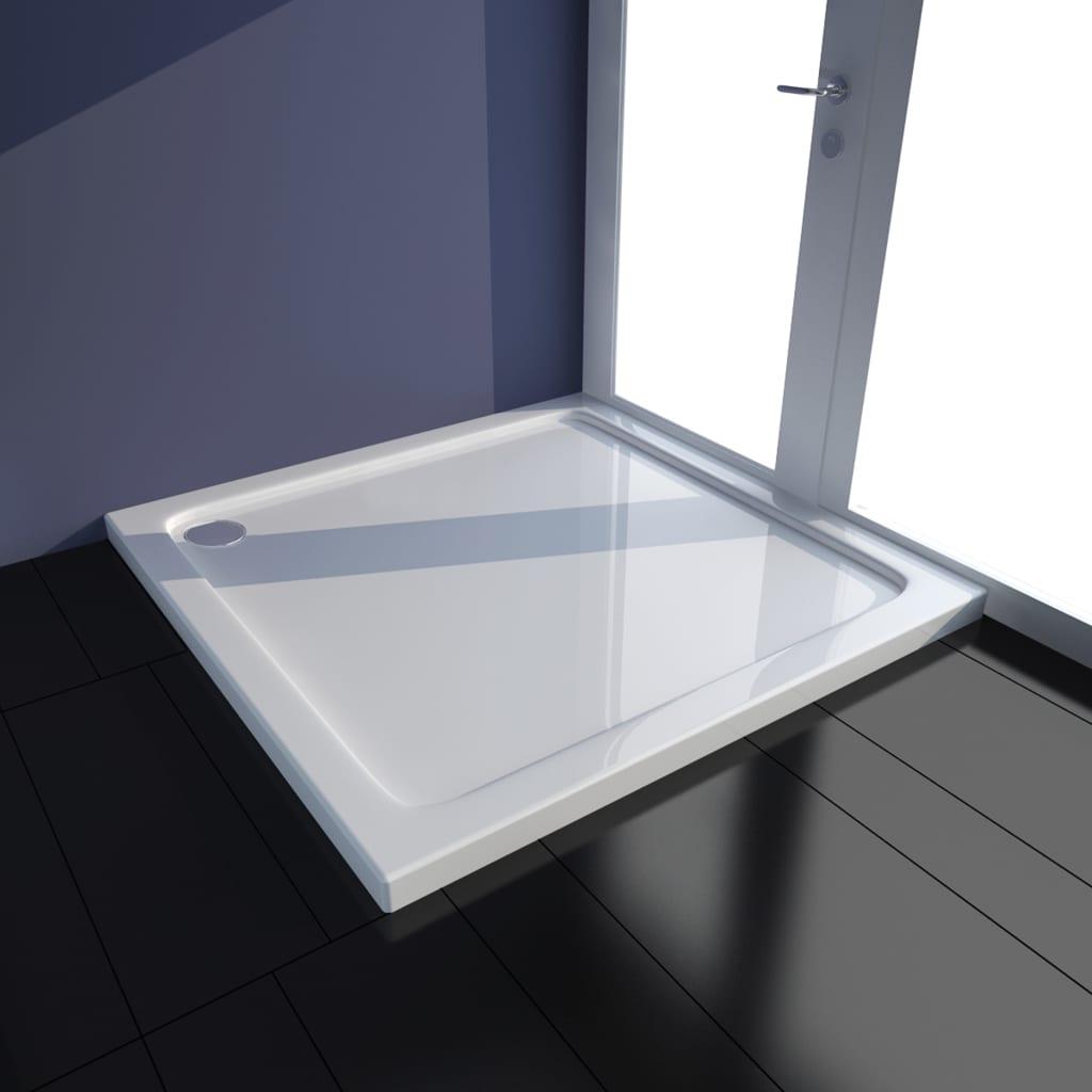 vidaXL Cădiță de duș, alb, 80 x 80 cm, ABS poza vidaxl.ro
