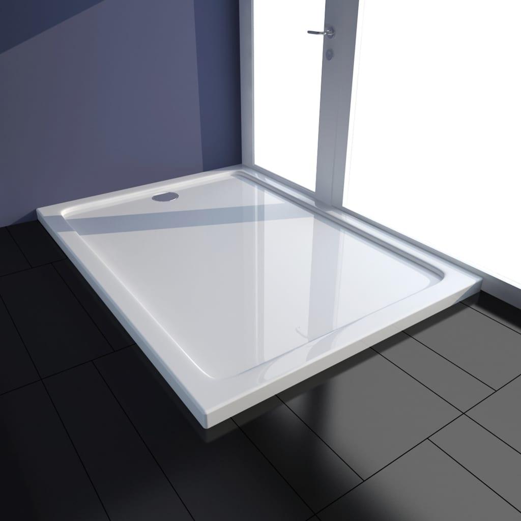 vidaXL Cădiță de duș, alb, 80 x 110 cm, ABS poza 2021 vidaXL