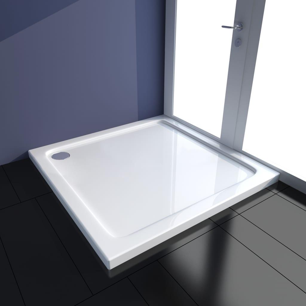 vidaXL Cădiță de duș, alb, 90 x 90 cm, ABS poza vidaxl.ro