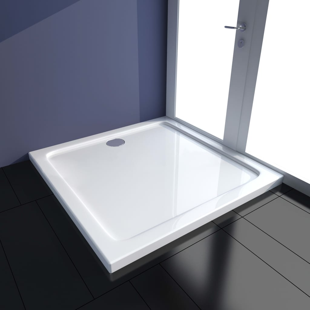 vidaXL Cădiță de duș, alb, 90 x 90 cm, ABS poza 2021 vidaXL