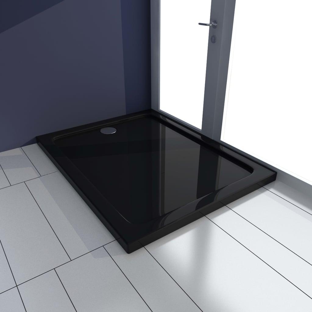 vidaXL Cădiță de duș, negru, 70 x 90 cm, ABS poza 2021 vidaXL