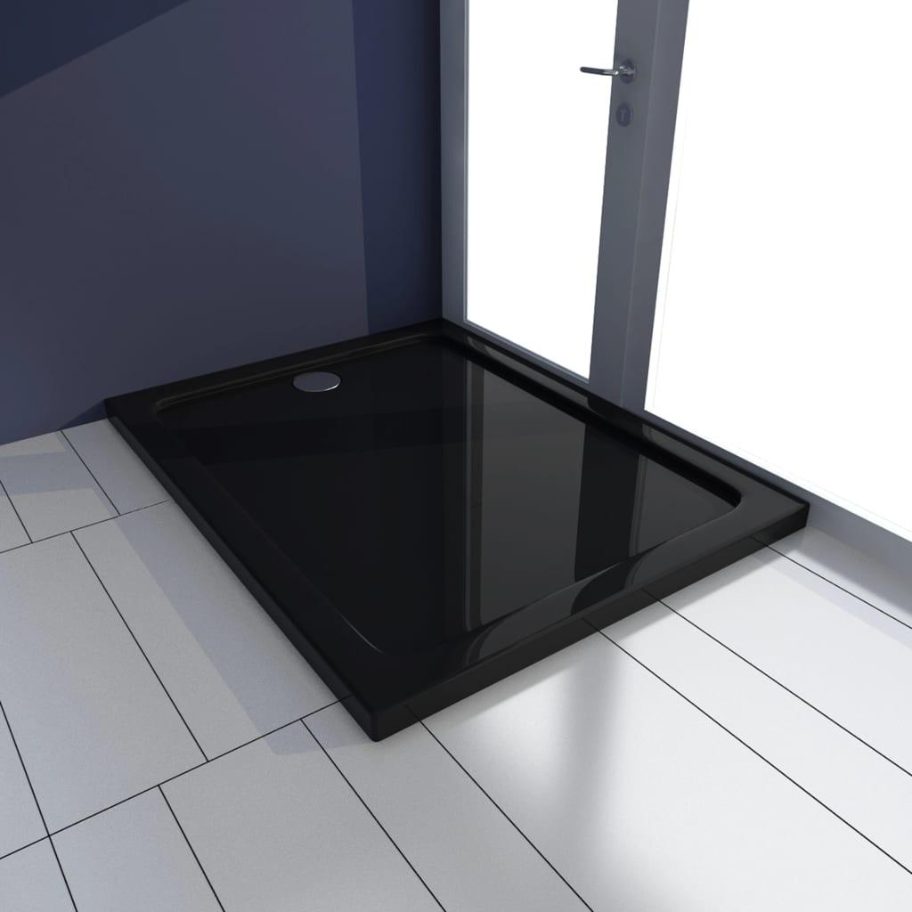 vidaXL Cădiță de duș, negru, 70 x 100 cm, ABS poza 2021 vidaXL