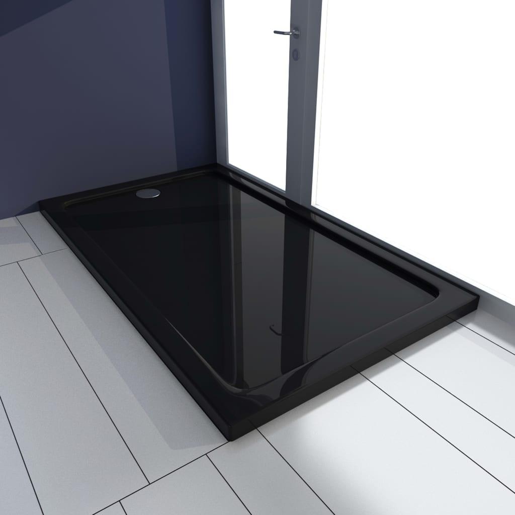 vidaXL Cădiță de duș, negru, 70 x 120 cm, ABS poza 2021 vidaXL