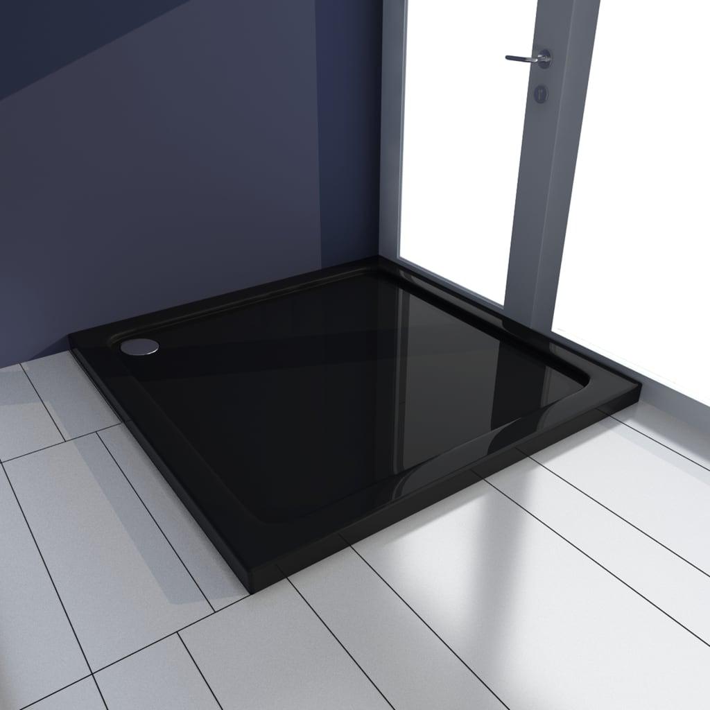 vidaXL Cădiță de duș, negru, 80 x 80 cm, ABS poza 2021 vidaXL