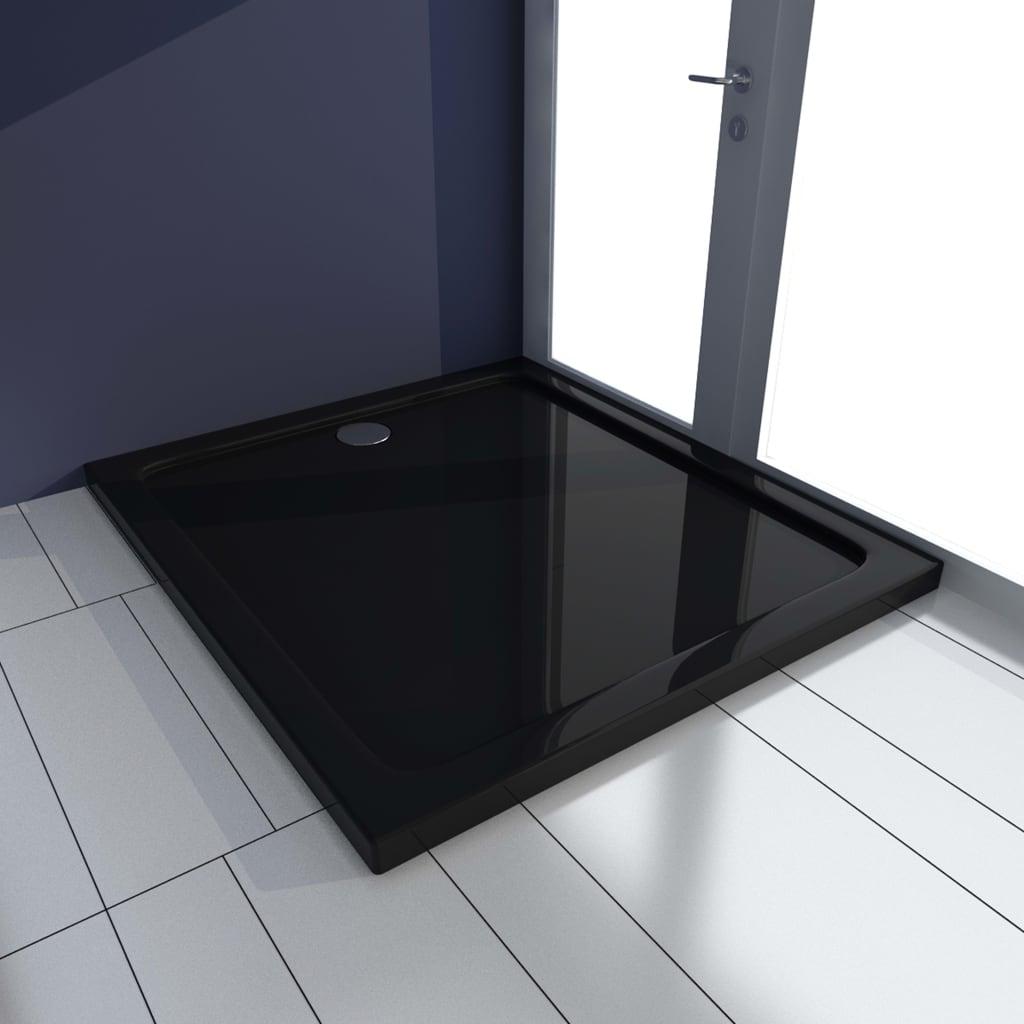 vidaXL Cădiță de duș, negru, 80 x 90 cm, ABS poza vidaxl.ro