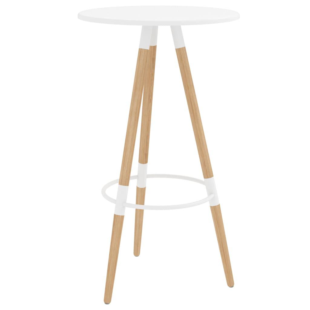 vidaXL Barski stol bijeli 60 x 103 cm MDF i masivna bukovina