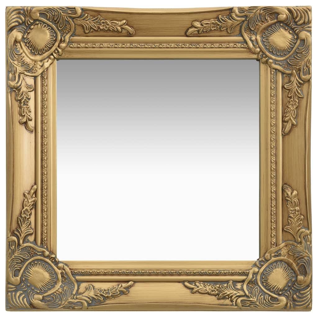 Nástěnné zrcadlo barokní styl 40 x 40 cm zlaté