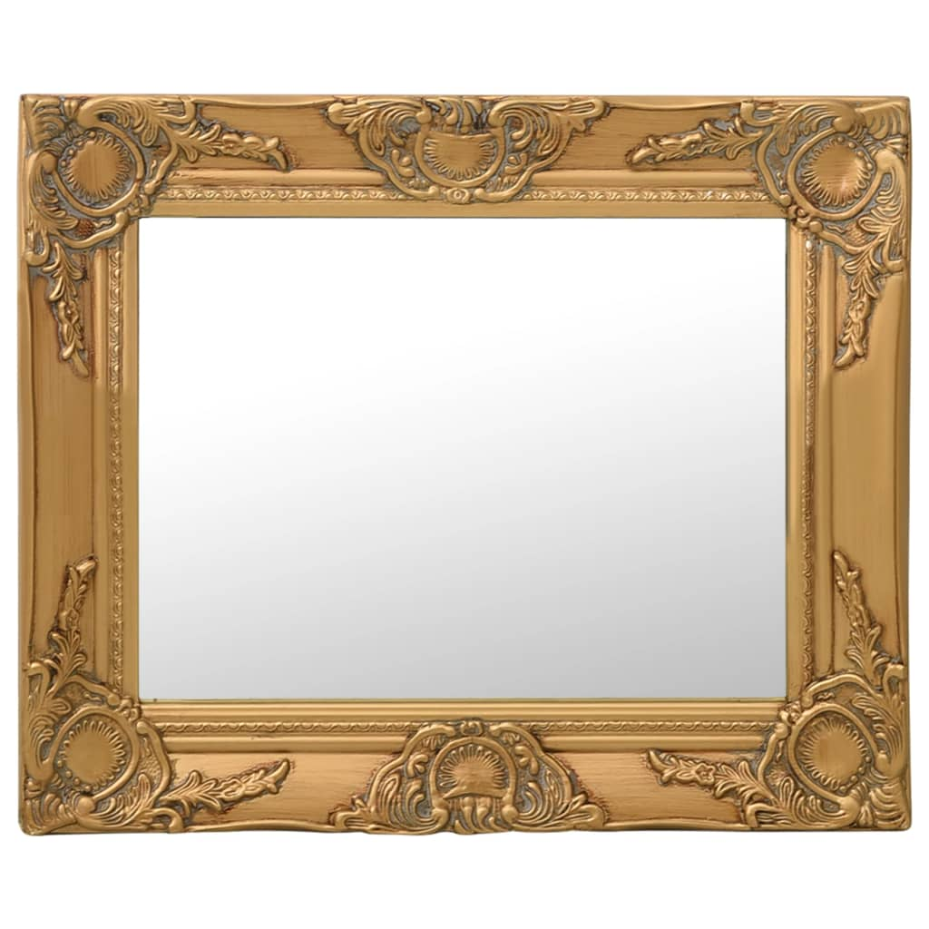 Nástěnné zrcadlo barokní styl 50 x 40 cm zlaté