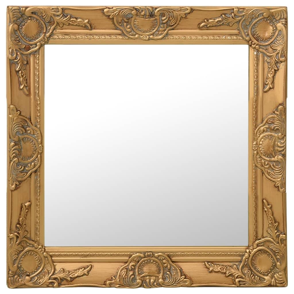 Nástěnné zrcadlo barokní styl 50 x 50 cm zlaté
