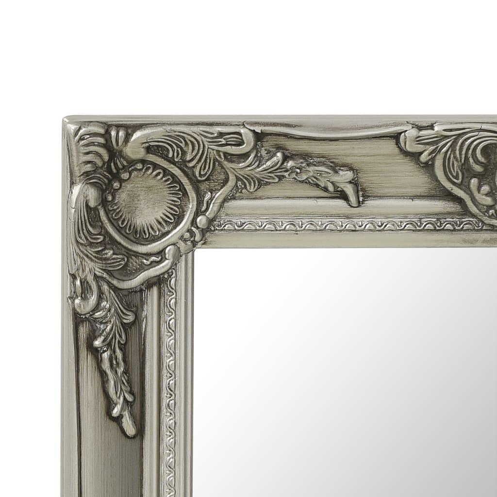 Wandspiegel barok stijl 50x50 cm zilverkleurig