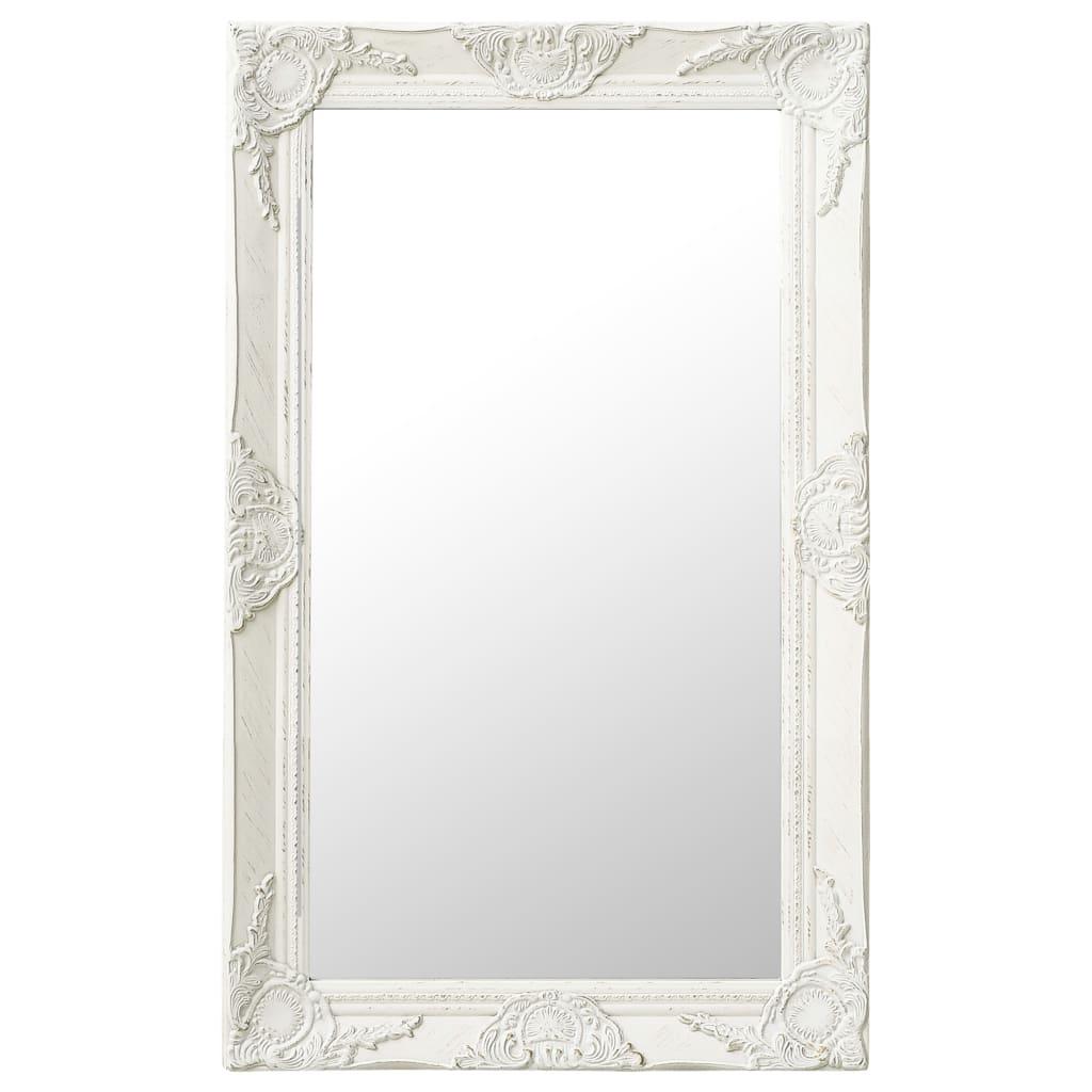 vidaXL Oglindă de perete în stil baroc, alb, 50 x 80 cm poza 2021 vidaXL