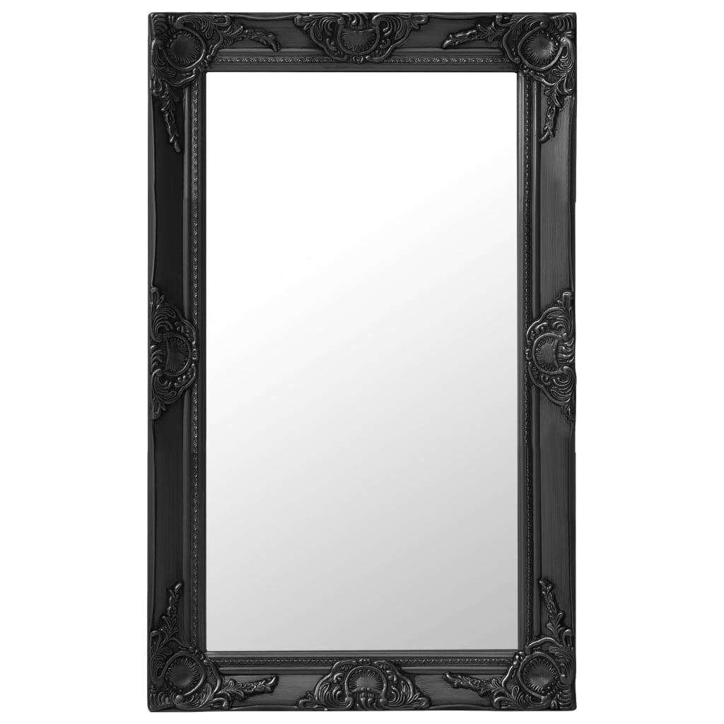 99320323 Wandspiegel im Barock-Stil 50x80 cm Schwarz