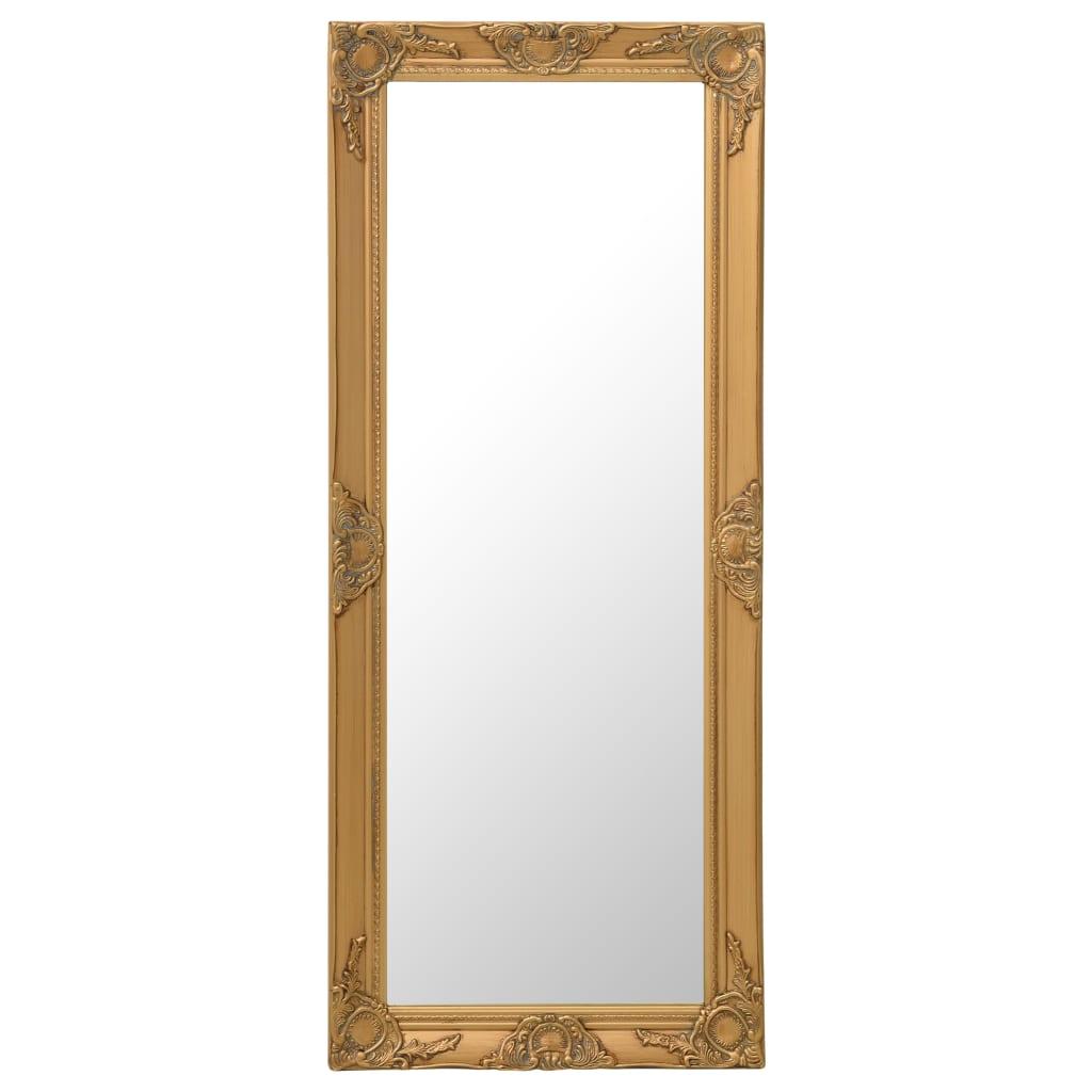 vidaXL Oglindă de perete în stil baroc, auriu, 50 x 120 cm imagine vidaxl.ro