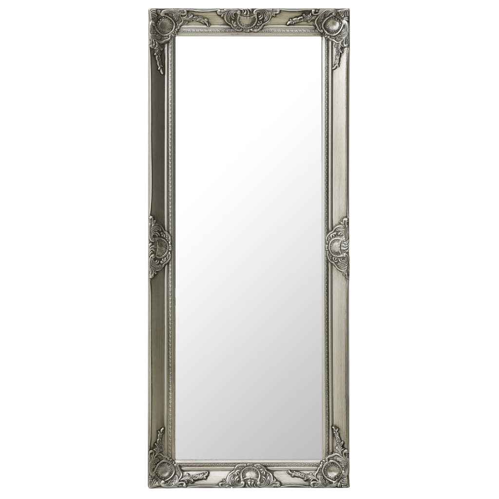 vidaXL Oglindă de perete în stil baroc, argintiu, 50 x 120 cm imagine vidaxl.ro