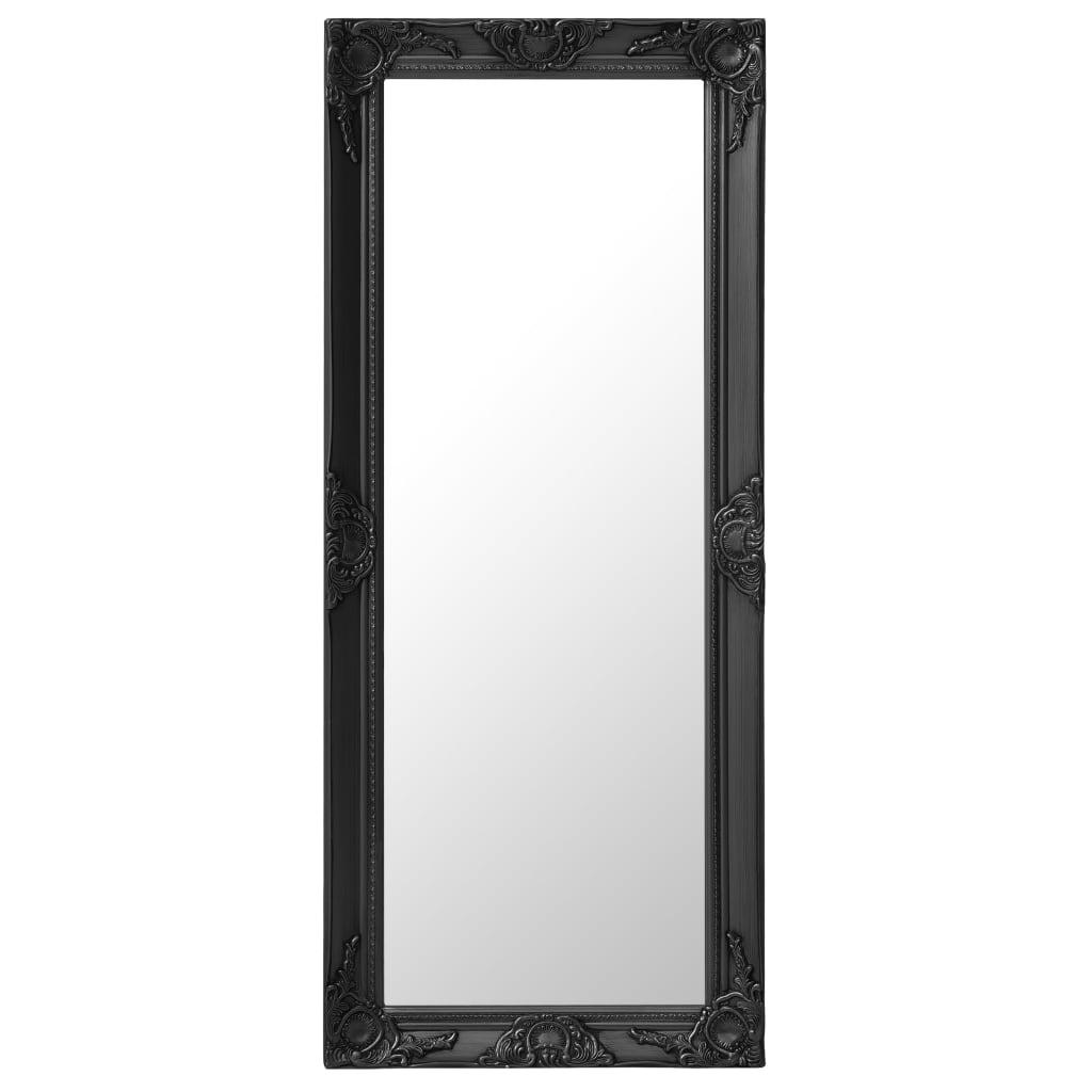 vidaXL Oglindă de perete în stil baroc, negru, 50 x 120 cm imagine vidaxl.ro