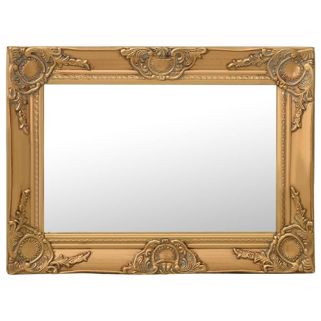 Nástěnné zrcadlo barokní styl 60 x 40 cm zlaté