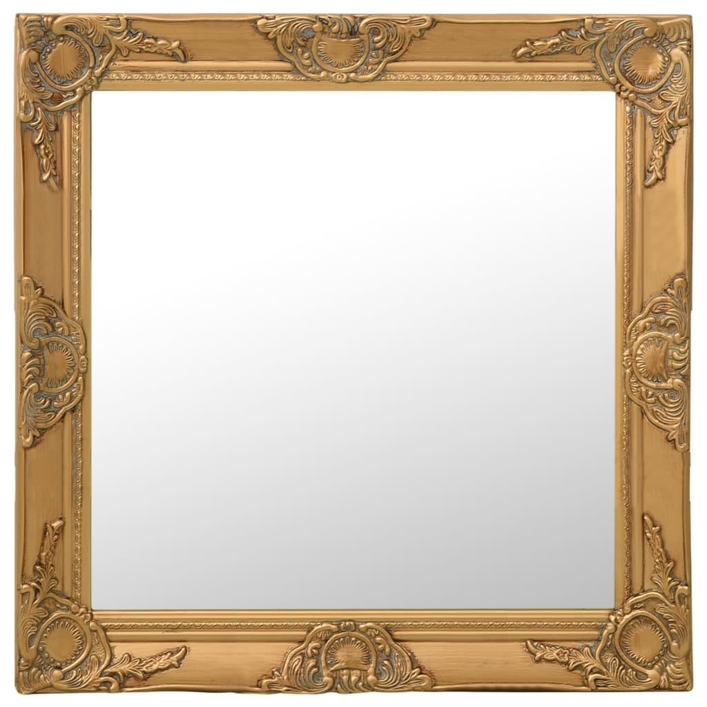 Nástěnné zrcadlo barokní styl 60 x 60 cm zlaté