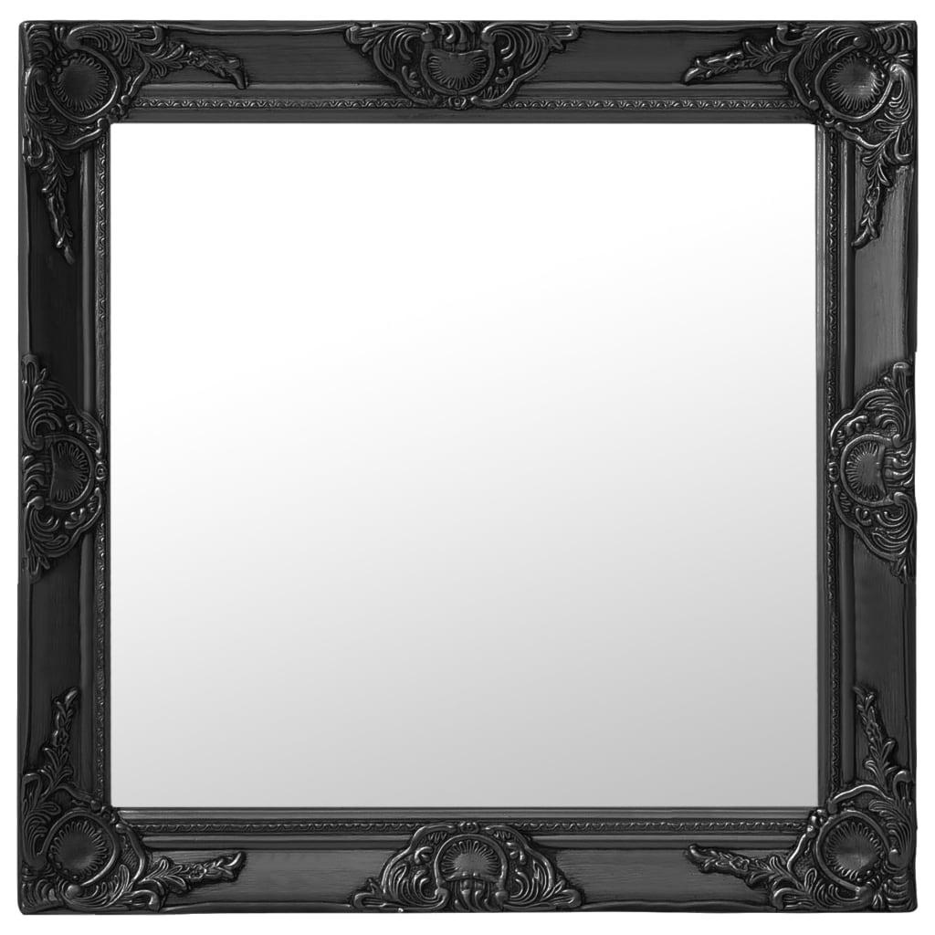 vidaXL Lustro ścienne w stylu barokowym, 60x60 cm, czarne