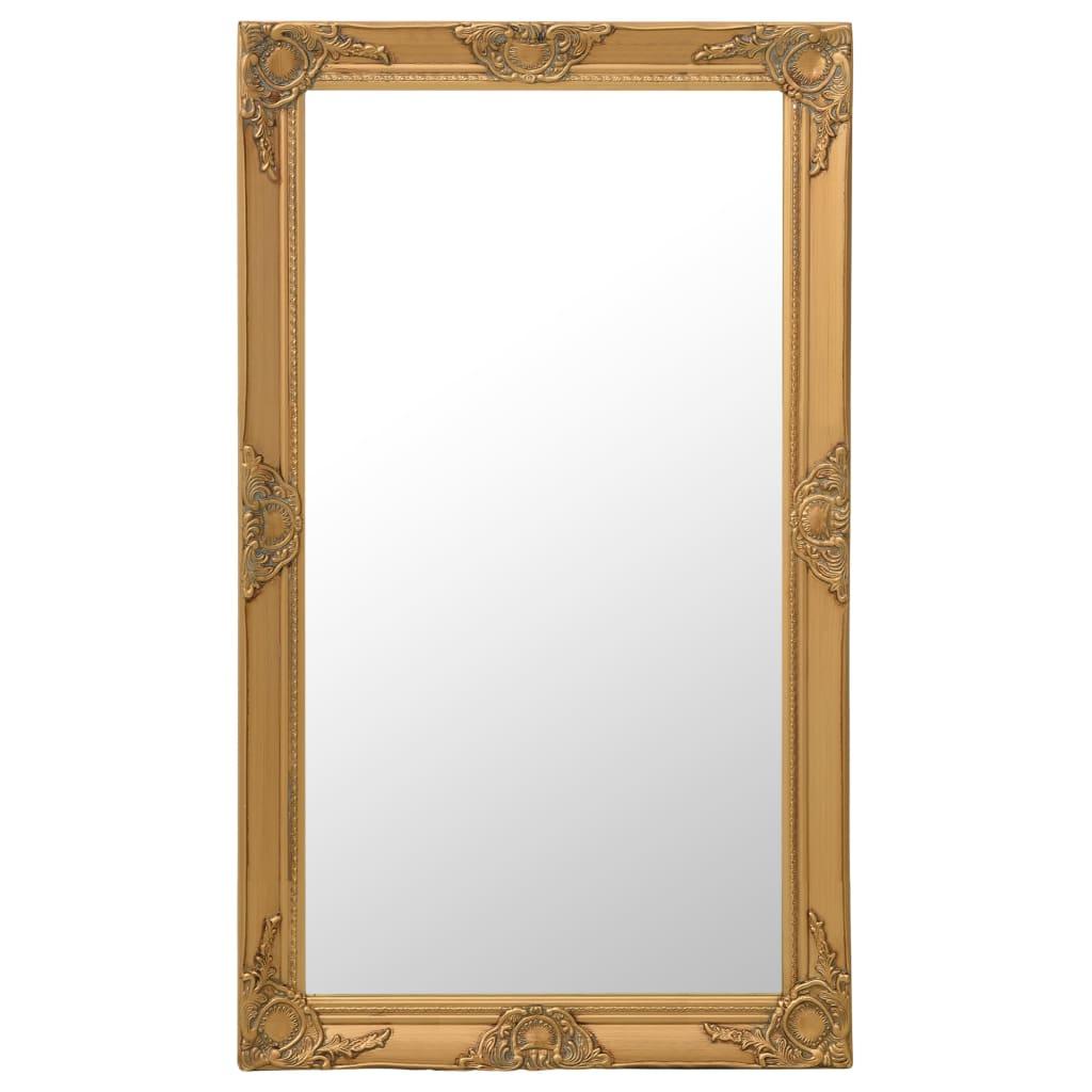 vidaXL Oglindă de perete în stil baroc, auriu, 60 x 100 cm poza 2021 vidaXL