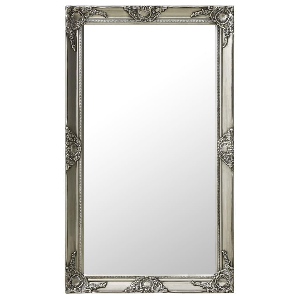 vidaXL Oglindă de perete în stil baroc, argintiu, 60 x 100 cm poza vidaxl.ro