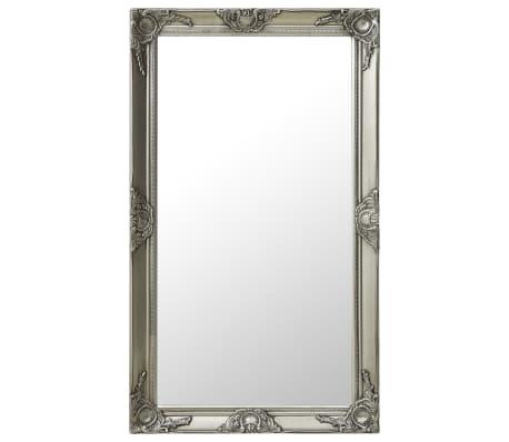 vidaXL Wandspiegel barok stijl 60x100 cm zilverkleurig