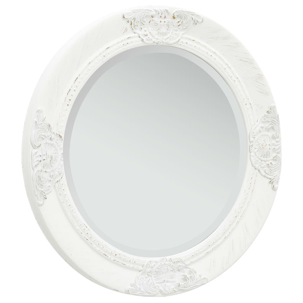 Nástěnné zrcadlo barokní styl 50 cm bílé