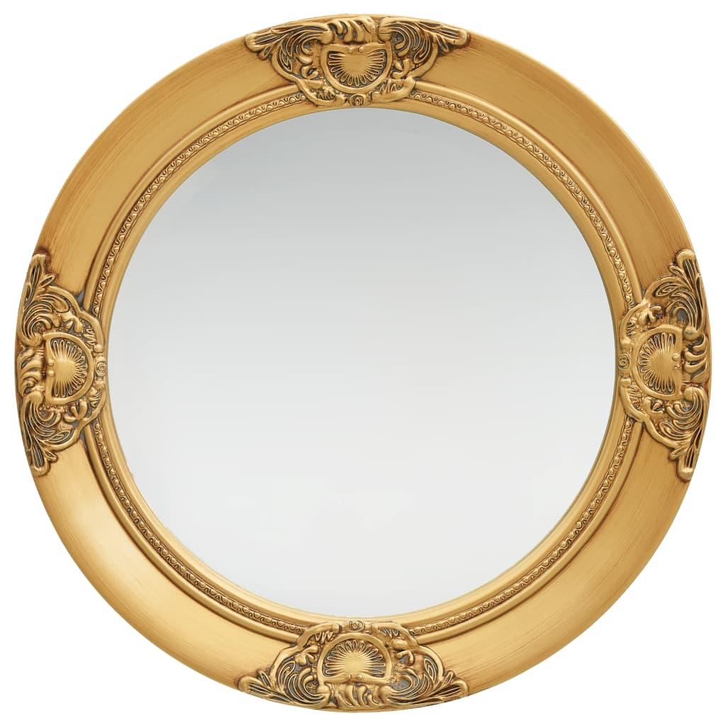 Nástěnné zrcadlo barokní styl 50 cm zlaté