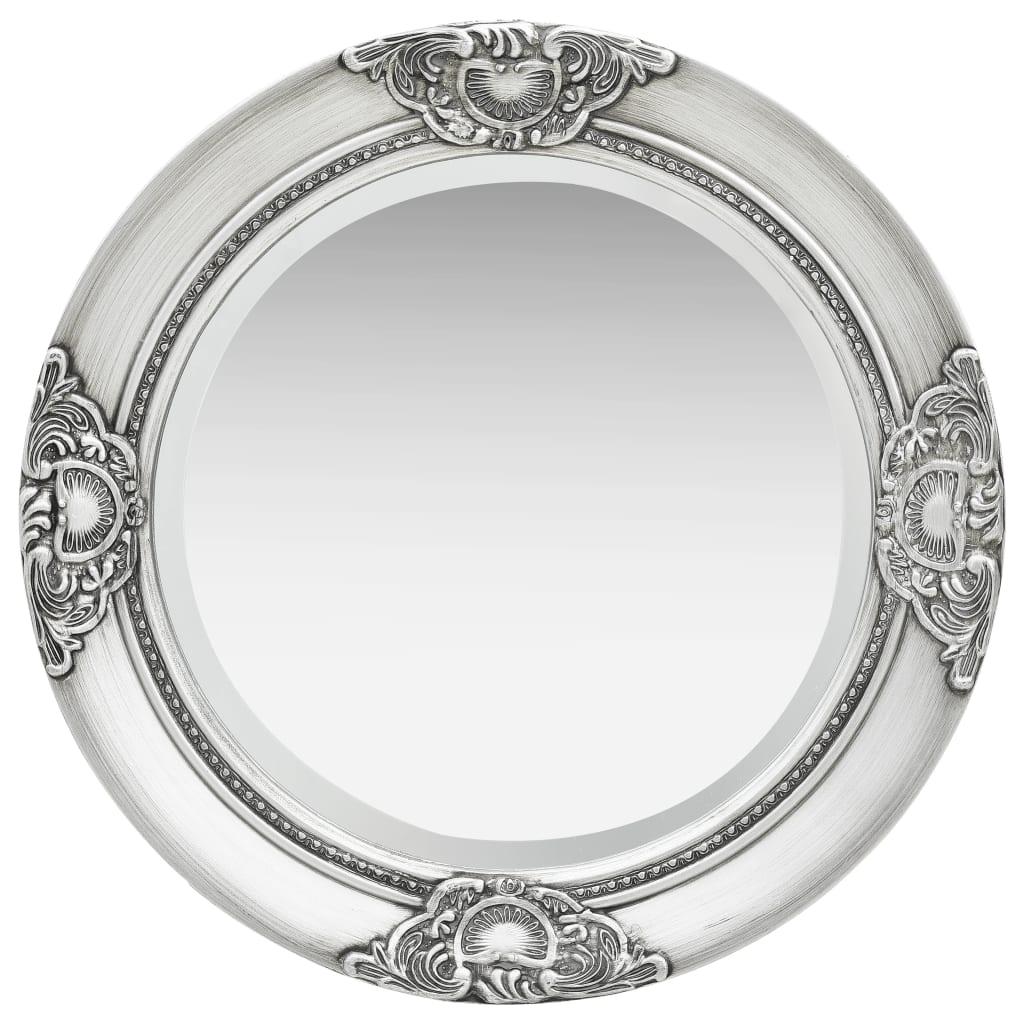 Nástěnné zrcadlo barokní styl 50 cm stříbrné