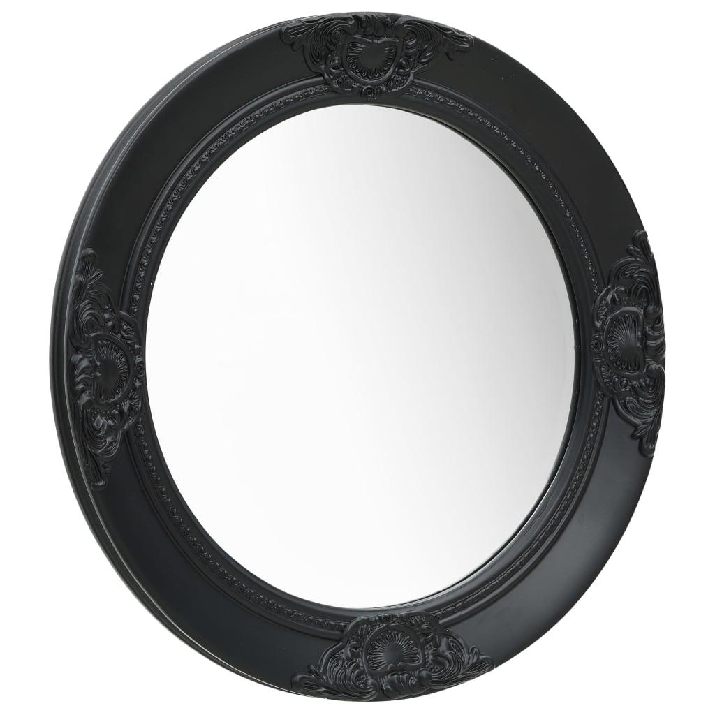 Nástěnné zrcadlo barokní styl 50 cm černé