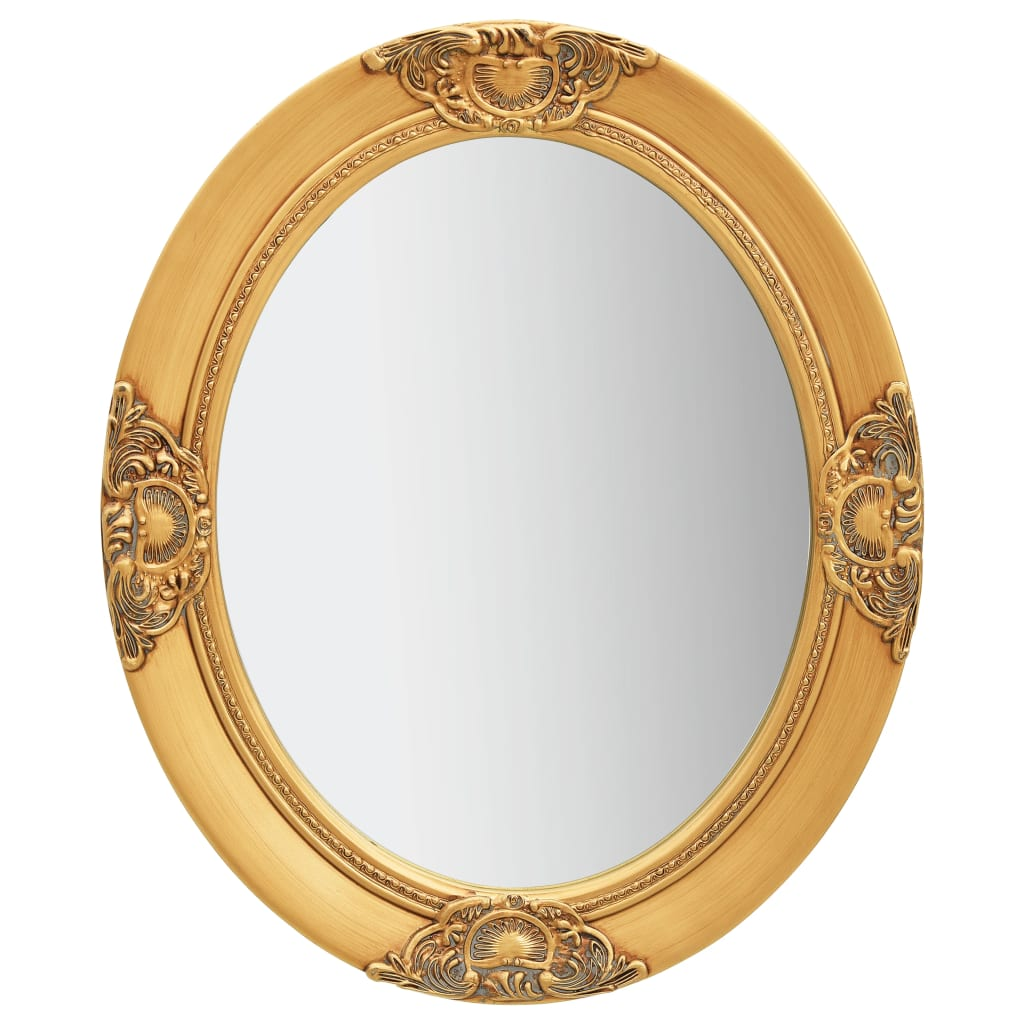 Nástěnné zrcadlo barokní styl 50 x 60 cm zlaté
