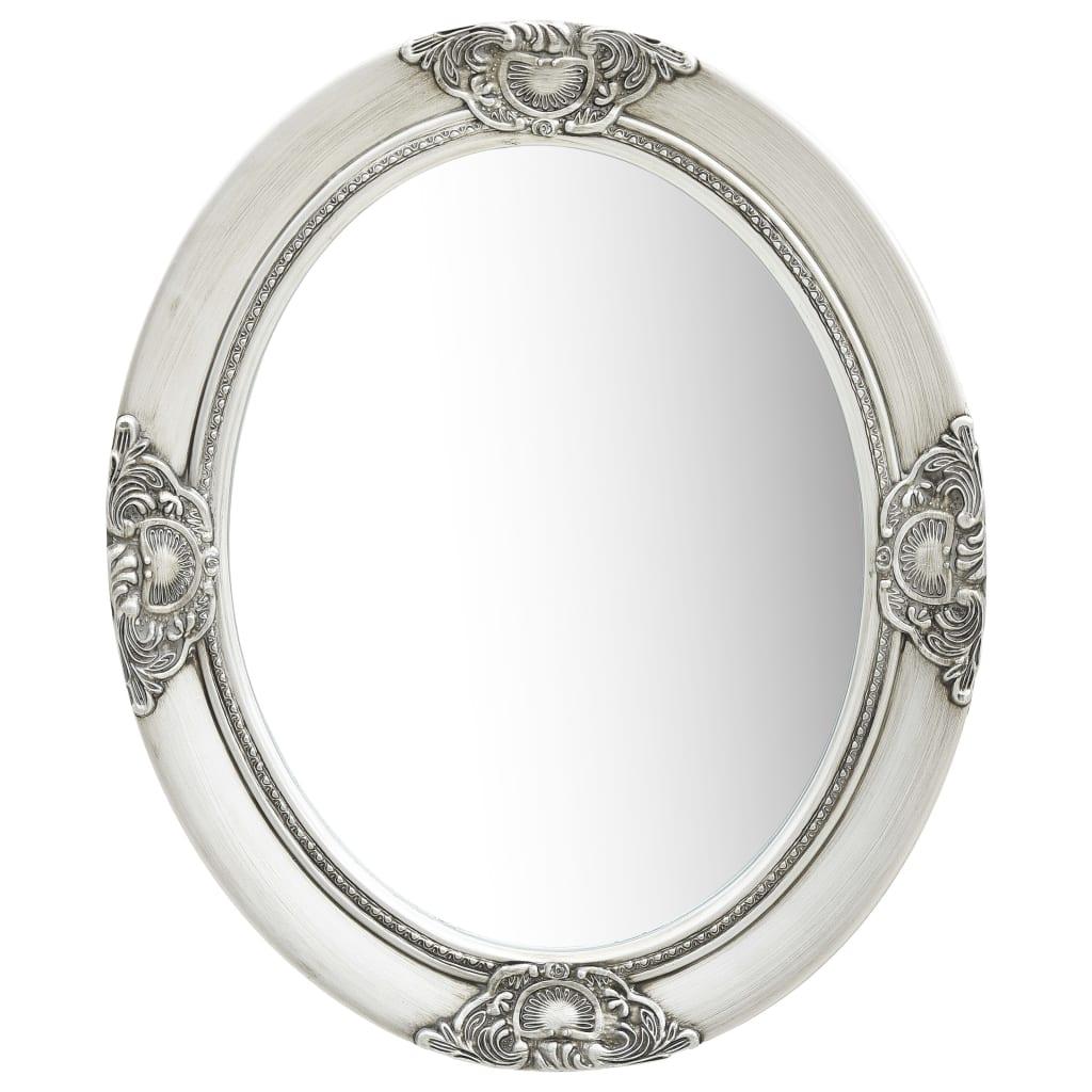 vidaXL Lustro ścienne w stylu barokowym, 50x60 cm, srebrne