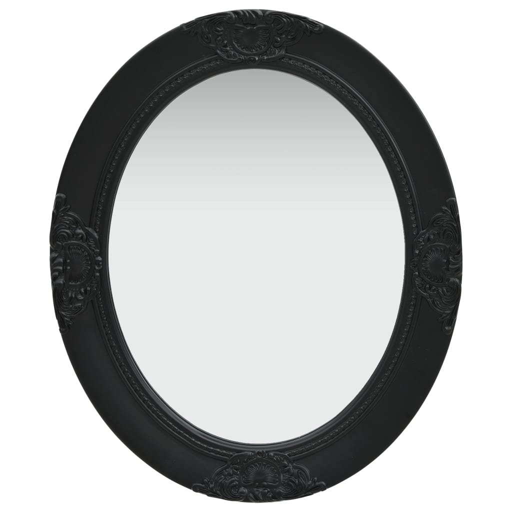vidaXL Oglindă de perete în stil baroc, negru, 50 x 60 cm imagine vidaxl.ro