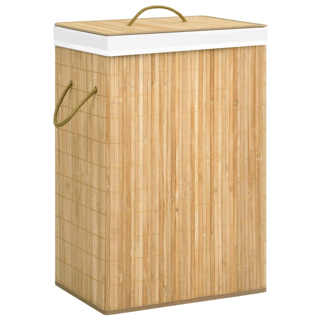 vidaXL Coș de rufe din bambus, 72 L imagine vidaxl.ro