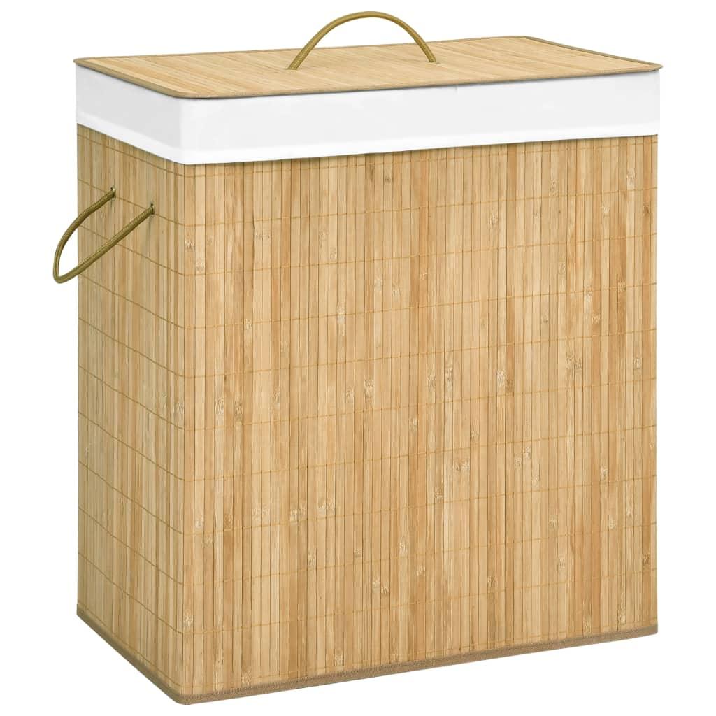 vidaXL Coș de rufe din bambus, 100 L imagine vidaxl.ro