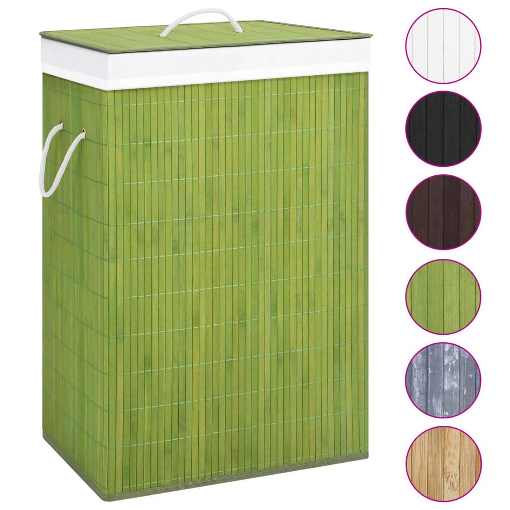 Bambusest pesukorv, roheline